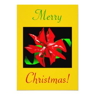 Flor III del navidad Invitación 12,7 X 17,8 Cm