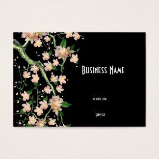 Flor japonés asiático del melocotón de la tarjeta
