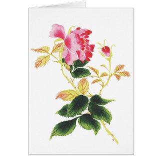 Flor japonesa tarjeta de felicitación