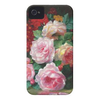 Flor magnífica del vintage iPhone 4 Case-Mate carcasas
