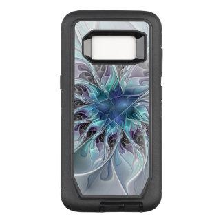 Flor moderna abstracta del fractal del Flourish Funda Otterbox Defender Para Samsung Galaxy S8