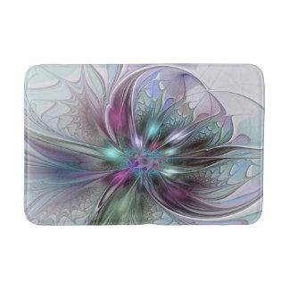 Flor moderna del fractal del extracto colorido de
