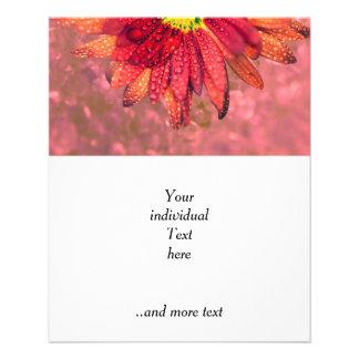flor mojada roja flyer personalizado