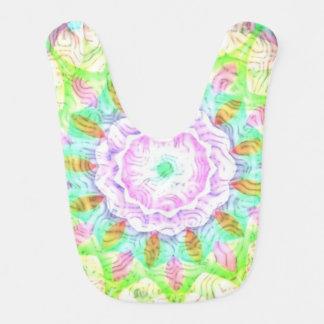 Flor multicolora del caleidoscopio de los babero