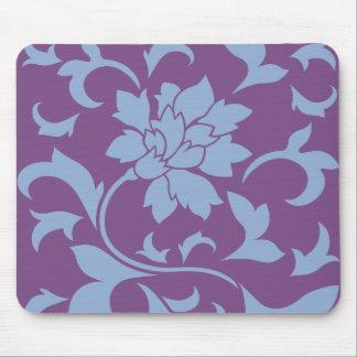 Flor oriental - azul de la serenidad alfombrilla de ratón