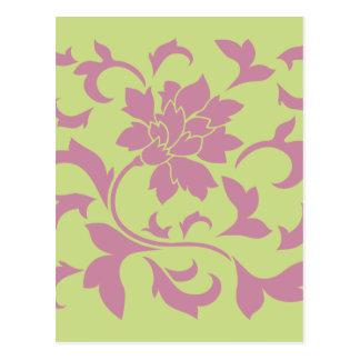 Flor oriental - cal verde de la fresa y del postal