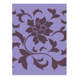 Flor oriental - chocolate de la cereza y tulipán postal