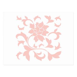 Flor oriental - cuarzo color de rosa postal