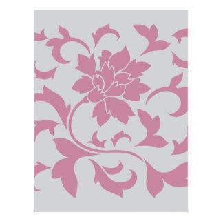 Flor oriental - fresa de plata postal