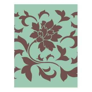Flor oriental - Hemlock del chocolate Postal