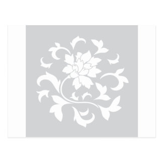 Flor oriental - modelo circular de plata postal