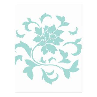 Flor oriental - modelo de la circular de Shell de Postal