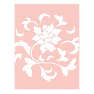 Flor oriental - modelo de la circular del cuarzo postal