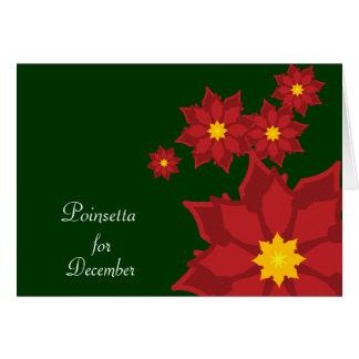 Flor-Personalizar del nacimiento de diciembre Tarjeta De Felicitación