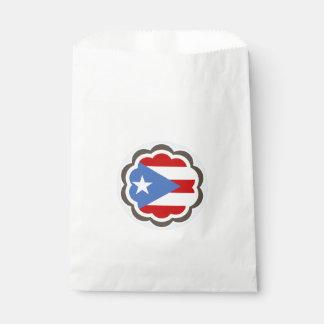 Flor puertorriqueña de la bandera bolsa de papel