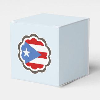 Flor puertorriqueña de la bandera caja para regalos