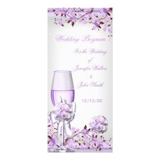Flor púrpura 4 de la lila de la lavanda del progra tarjetas publicitarias