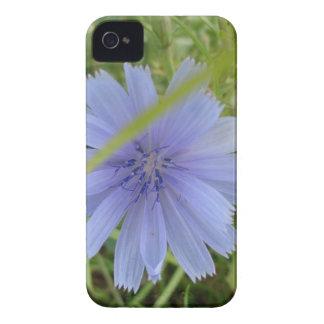 Flor púrpura azul dulce Case-Mate iPhone 4 cárcasas
