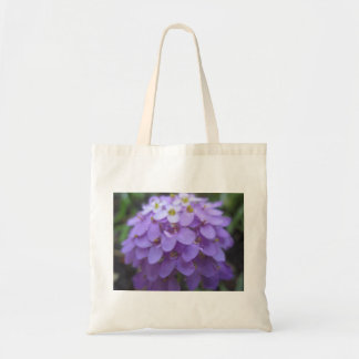 Flor púrpura bolso de tela