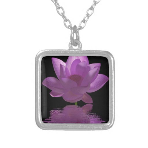 Flor púrpura pendientes personalizados