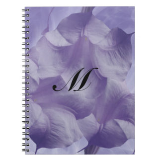 Flor púrpura de la luna libretas