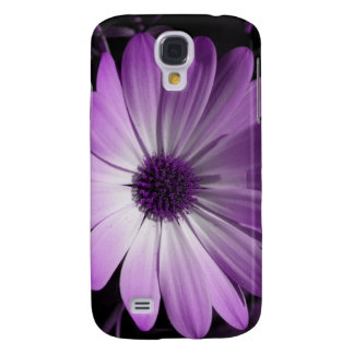 Flor púrpura de la margarita samsung galaxy s4 cover