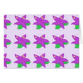 Flor púrpura Notecard Tarjeta Pequeña