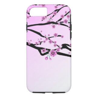Flor púrpura Sakura de la cereza Funda iPhone 7