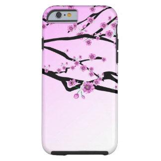 Flor púrpura Sakura de la cereza Funda Resistente iPhone 6