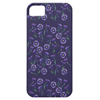 Flor púrpura violeta funda para iPhone SE/5/5s