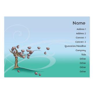 Flor - rechoncho tarjetas de visita grandes