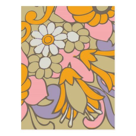 Flor retra 2 postal