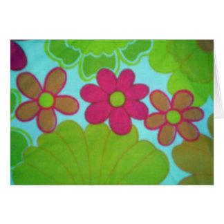 Flor retra brillante de los años 70 tarjeta pequeña