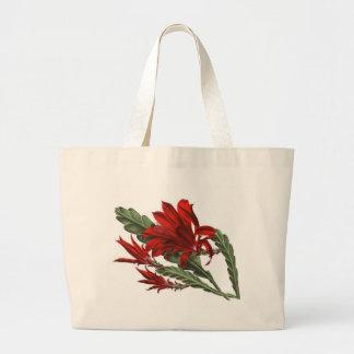 Flor roja bolsa