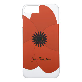 Flor roja brillante del polluelo lindo funda iPhone 7