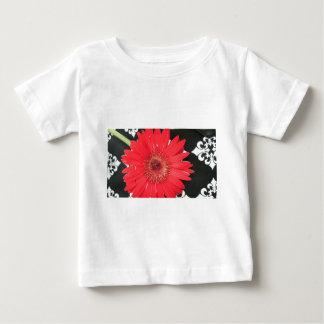 Flor roja camiseta de bebé