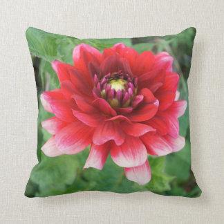"""Flor roja de Delilah, almohada de tiro 16"""" x16 """""""