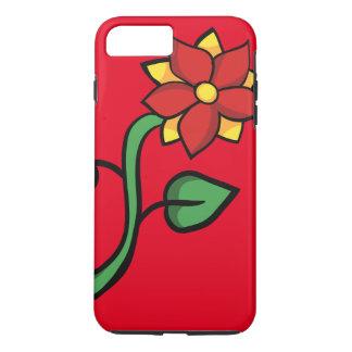 Flor roja funda iPhone 7 plus