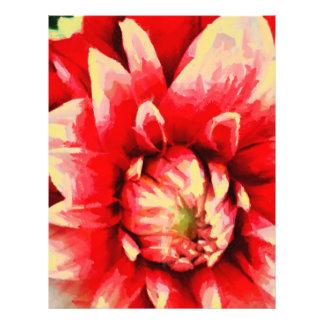 Flor roja grande flyer