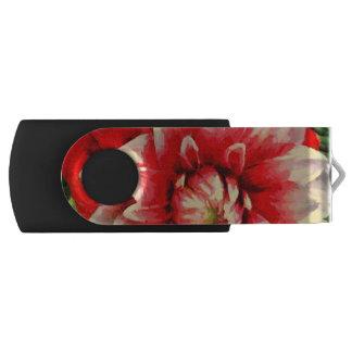 Flor roja grande memoria USB