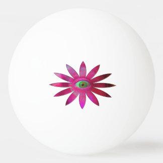 Flor rosácea del ojo pelota de ping pong