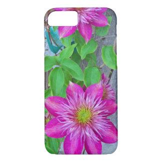 Flor rosada 2016 del Clematis Funda iPhone 7