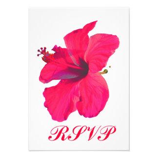 Flor rosada bonita de Quinceanera RSVP Comunicado