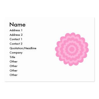 Flor rosada bonita. Fondo blanco Tarjetas De Visita Grandes