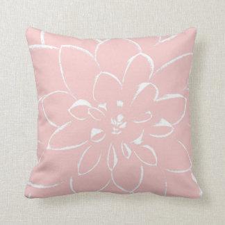 Flor rosada color de rosa del cuarzo el | de la cojín decorativo