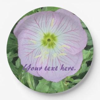 Flor rosada de la primavera de la lavanda sus plato de papel
