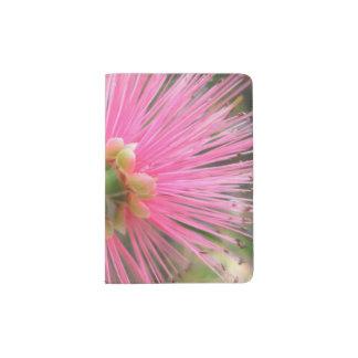 Flor rosada del árbol de goma porta pasaportes