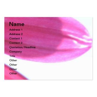 Flor rosada del verano tarjetas de visita grandes