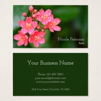 Flor rosada - florista tarjeta de visita
