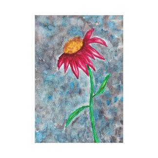 Flor rosada impresión en lienzo